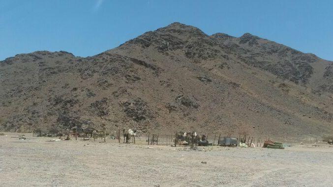 The desert area on the way to Wadi-e-jinn